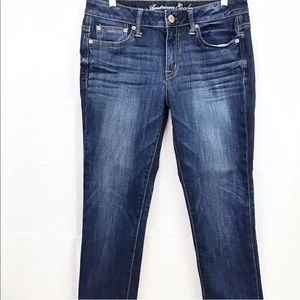 American Eagle Jeans Slouchy Cropped Stretch